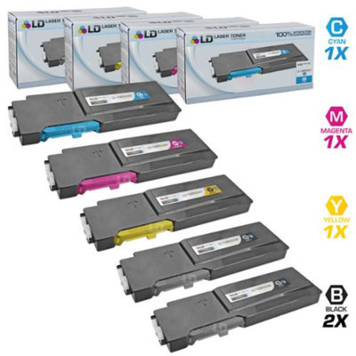LD Compatible Xerox Phaser 6600 Set of 5 HY Laser Toner Cartridges: 2 106R02228, 1 106R02225, 1 106R02226 & 1 106R02227 for the Phaser 6600, 6600dn, 6600n, 6600ydn & Workcentre 6605, 6605dn, 6605n