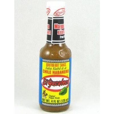 El Yucateco Extra Hot Habanero Sauce, 4 oz.