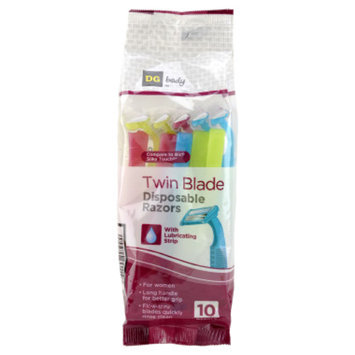 DG Body Women's Twin-Blade Disposable Razors - 10 ct