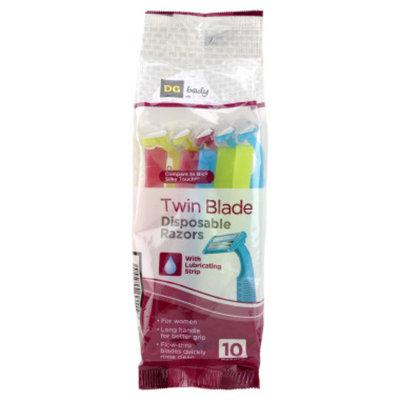 DG Body Women's Twin-Blade Disposable Razors - 10 ct