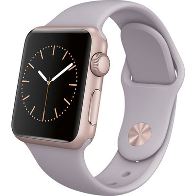 Apple Watch Sport 38mm Rose Gold Aluminum Case - Lavender Sport Band