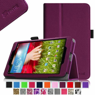 Fintie LG G Pad 8.0 Android Tablet Folio Case - Premium Leather Cover Stand With Stylus Holder, Purple
