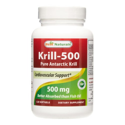Best Naturals Krill-500 Antarctic Krill, 120 Softgels