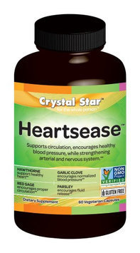 Crystal Star Heartsease H.B.P. - 60 - Capsule [Health and Beauty]
