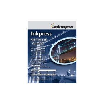 Inkpress Metallic Paper, 255 gsm, 10 mil, Metallic Glossy Surface, 11x14