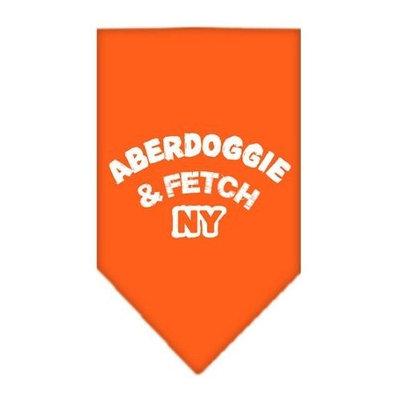Mirage Pet Products Aberdoggie NY Screen Print Bandana for Pets, Large, Orange
