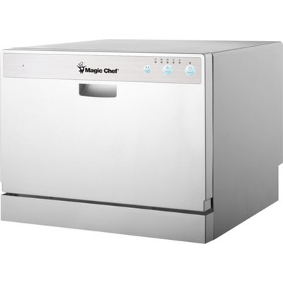 Magic Chef Mcscd6w1 Countertop Dishwasher, 1 ea