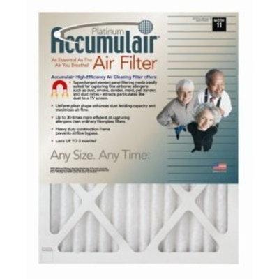 12.75x21x1 (Actual Size) Accumulair Platinum 1-Inch Filter (MERV 11) (4 Pack)