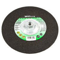 Forney 71899 Grinding Wheel with 5/8-Inch-11 Threaded Arbor Masonry C24R-BF 9-Inch-by-1/4-Inch