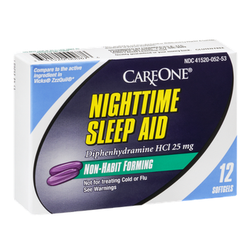 CareOne Nighttime Sleep Aid Softgels - 12 CT