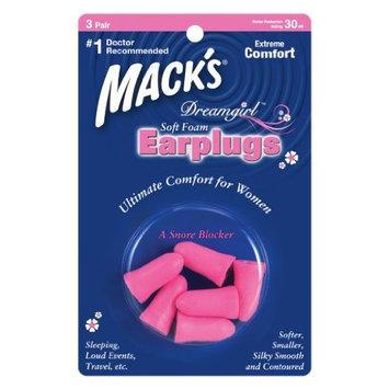 Macks Mack's® Dreamgirl TM Soft Foam Earplugs - 3-pair Blister Pack