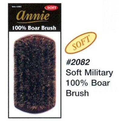 Annie soft military 100% pure BOAR BRISTLE WAVE HAIR BRUSH durag MAN