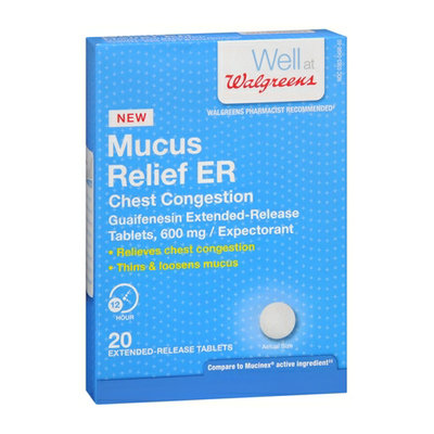 Walgreens Mucus Relief Extended Relief 20 Tablets