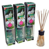Greenair Aromatherapy Reed Diffusers, 2.7-Ounce Containers, Jasmine (Set of 3)