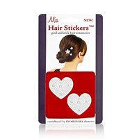 Mia Hair Stickers - Small Model No. 04702 - 2 Silver Hearts