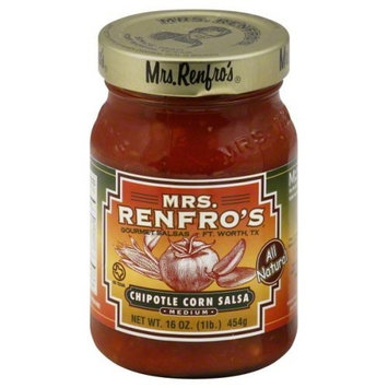 Renfro Fine Foods Salsa, Chipotle Corn, 16-Ounce (Pack of 6)