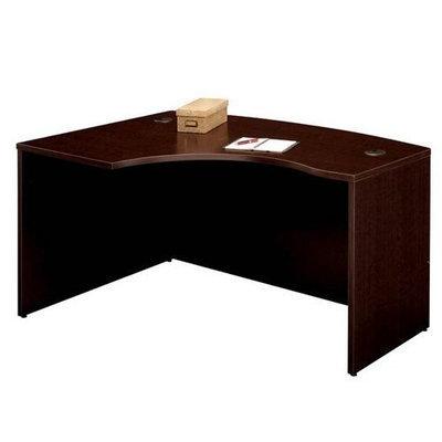 Bush Business Furniture Left L Bow Desk Shell Mocha Cherry