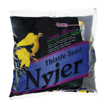 Brown's Song Blend Thistle Seed Nyier Premium Wild Bird Food.