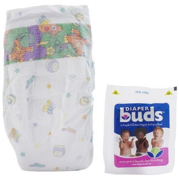 Diaperbuds Vacuum Sealed Premium Disposable Diapers - Size 4 Large Multipack Bags - 26 Count