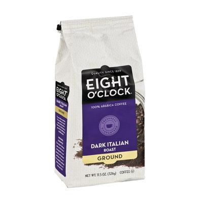 Eight O'Clock Dark Italian Roast Ground 100% Arabica Coffee