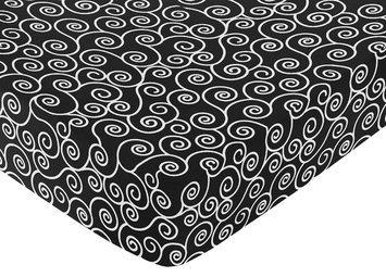 Jojo Designs, Llc. Sweet Jojo Designs Madison Scroll Print Fitted Crib Sheet