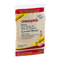 Joseph's Flax Oat Bran & Whole Wheat Lavash Bread - 4 CT