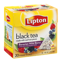 Lipton® Black Tea  Pyramid Tea Bags Bavarian Wild Berry