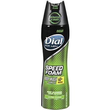 Dial for Men Speed Foam Body Wash Foaming Gel Ultra Clean