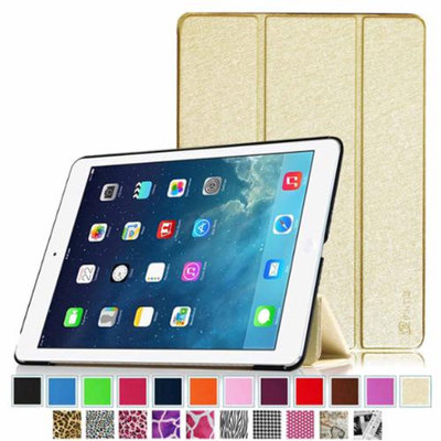 iPad Air 2 Case - Fintie Ultra Slim Stand Case with Auto Wake / Sleep Feature for Apple iPad Air 2 (iPad 6), Golden