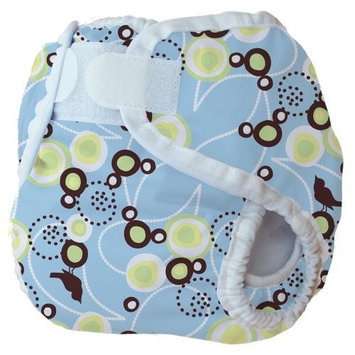 Thirsties Diaper Cover, White, X-Small (6-12 lbs) (Discontinued by Manufacturer)