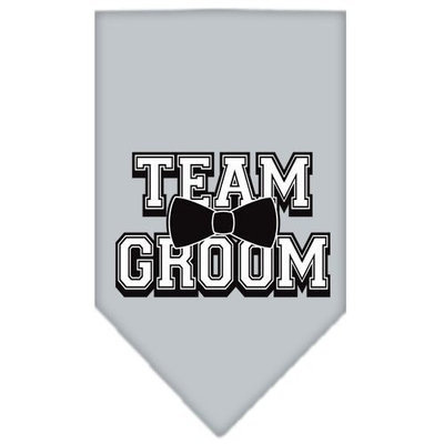 Mirage Pet Products 6687 SMGY Team Groom Screen Print Bandana Grey Small