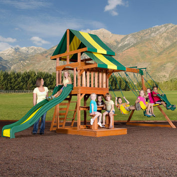 Leisure Time Products Backyard Discovery Independence Swing Set