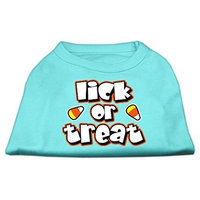 Mirage Pet Products 511301 SMAQ Lick Or Treat Screen Print Shirts Aqua S 10