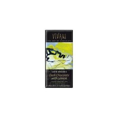 Vivendi Vivani Dark Chocolate Bar With Lemon 3. 5 Oz - Pack of 10 - SPu880534