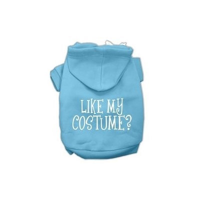 Mirage Pet Products Like my costume? Screen Print Pet Hoodies Baby Blue Size XXXL(20)