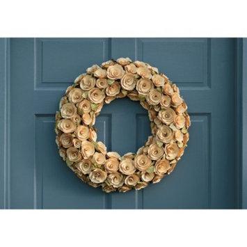 Smith & Hawken Cream Curled Wood Wreath; 21.25