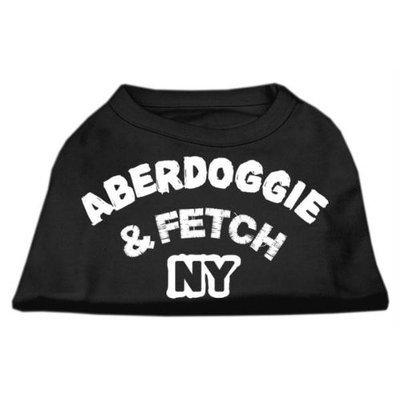 Mirage Pet Products 5101 SMBK Aberdoggie NY Screenprint Shirts Black Sm 10