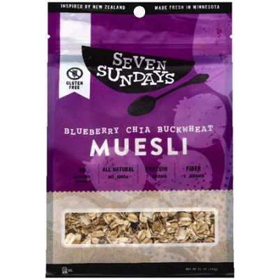 Seven Sundays Blueberry Chia Buckwheat Muesli, 12 oz, (Pack of 6)