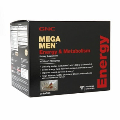 GNC Mega Men Energy & Metabolism Vitapak, Packs, 30 ea
