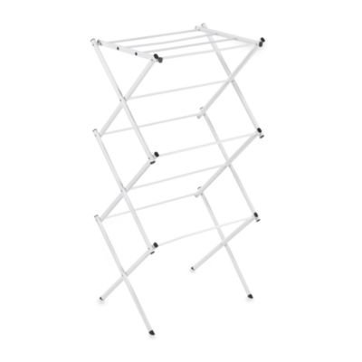 Polder Compact Accordion Clothes Drying Rack in White