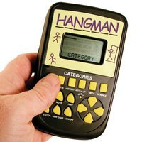 Westminster Pocket Arcade Handheld Electronic Hangman Classic Game Stocking Stuffer Toy