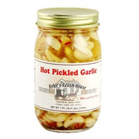 Byler's Relish House Homemade Amish Country Hot Pickled Garlic 16 oz.