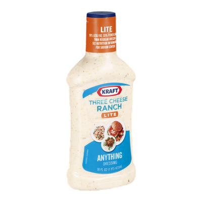 Kraft Anything Dressing Three Cheese Ranch Lite
