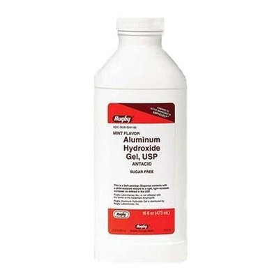 Rugby Laboratories, Inc. Aluminum Hydro Gel, USP 320mg/5mL 473mL *Compare to Amphojel*