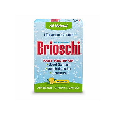 Brioschi Effervescent Antacid For Upset Stomach