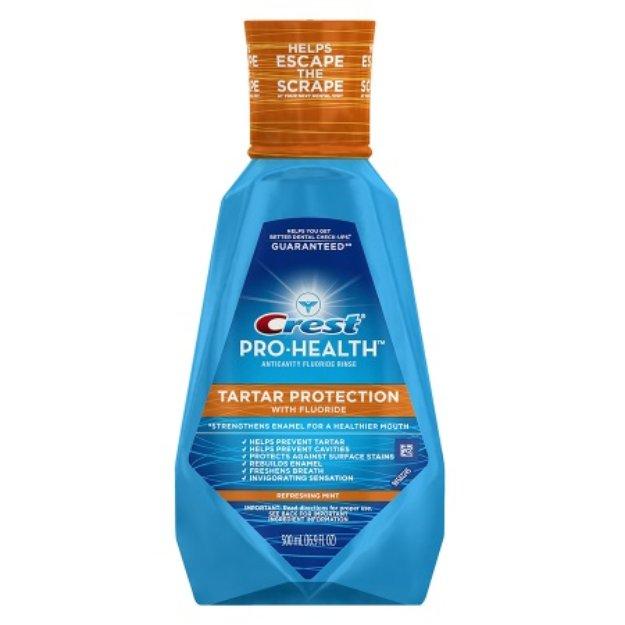 Crest Pro-Health Tartar Protection with Fluoride Anticavity Fluoride Rinse, Refreshing Mint, 16.9 fl oz