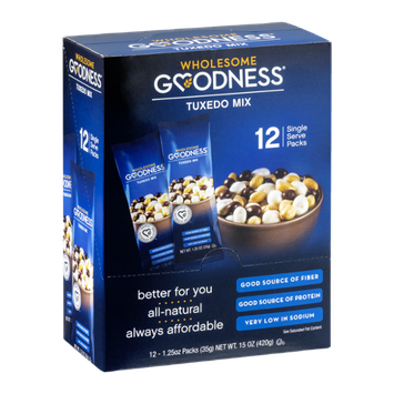 Wholesome Goodness Single Serve Packs Tuxedo Mix - 12 CT