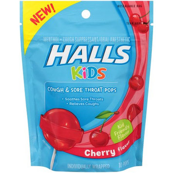 HALLS Kids Cherry Pops
