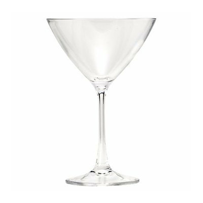 Diligence Inc Polycarbonate Martini Glass Set of 4