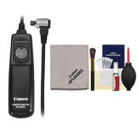 Canon RS-80N3 Remote Switch Shutter Release Cord + Cleaning Kit for EOS 30D, 40D, 50D, 7D, 5D, 1D Mark II N II IV & 1Ds Mark II III Digital SLR Cameras